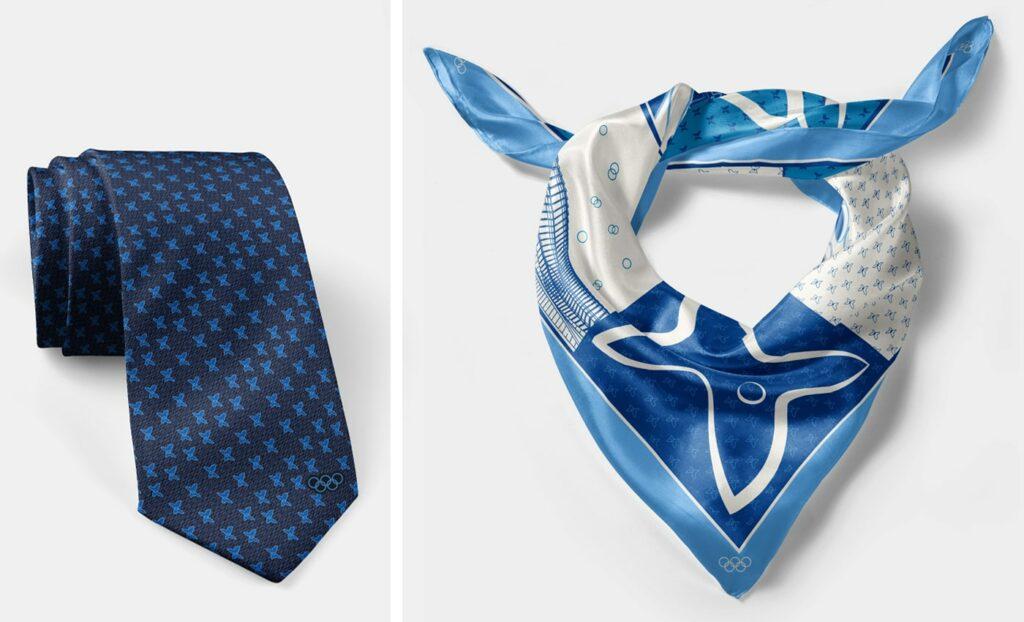 cadeau personnalisé foulard cravate