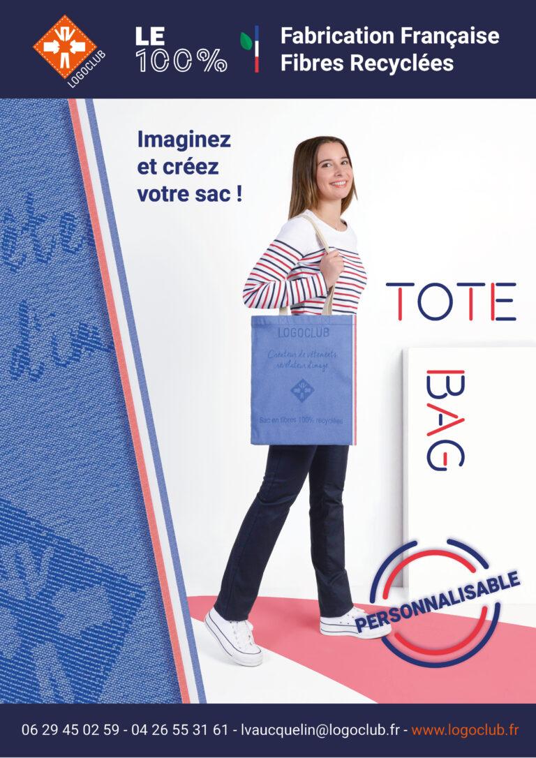 newsletter tote bag personnalisé français